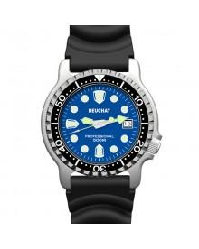 Montre Beuchat Lumitech 500 bleu