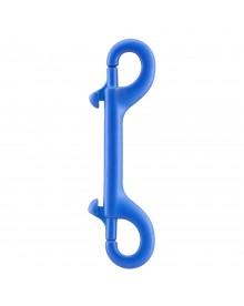 Mousqueton double bleu 100mm